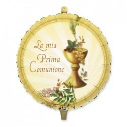 PALLONE MYLAR LA MIA PRIMA COMUNIONE 90 CM.